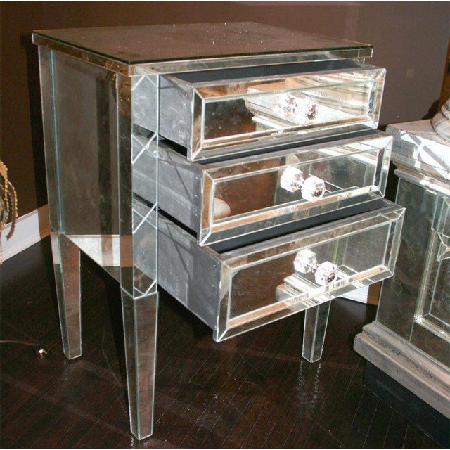 Wood Single Custom X-Front Design Commode For Sale - Image 7 of 8