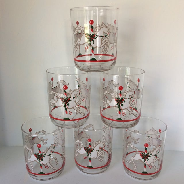 Libbey Merry-Go-Round Glasses - Set of 6 For Sale - Image 13 of 13