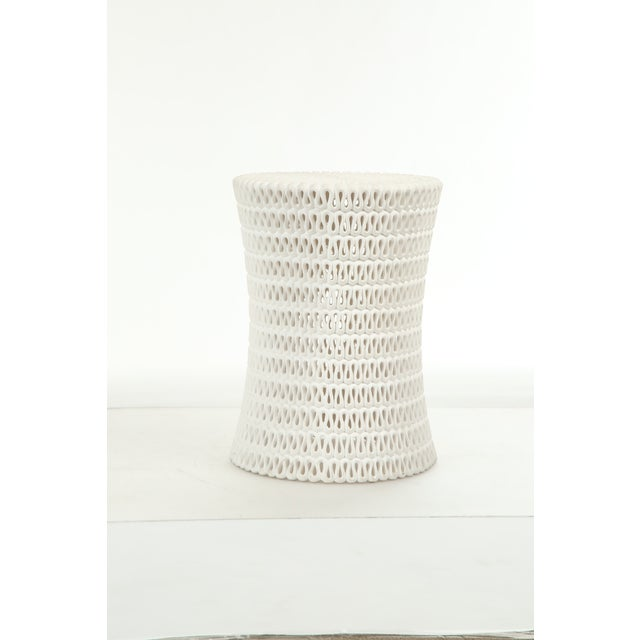 2010s Oly Studio Pipa Ribbon Light Resin Side Table For Sale - Image 5 of 5