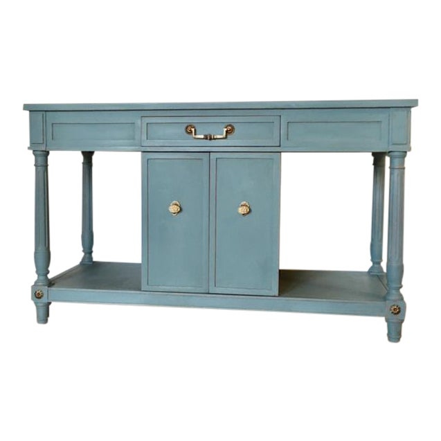 Thomasville Blue Wood Buffet / Server For Sale
