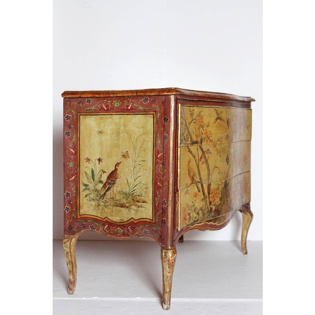 18th Century Italian Painted Commode For Sale - Image 11 of 13