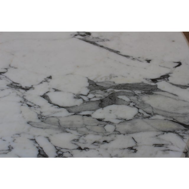 1970s Vintage 1970s Post-Modern Italian Marble Dining Table For Sale - Image 5 of 12