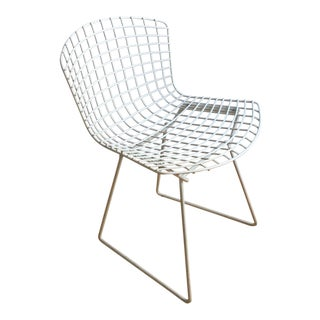 1950s Vintage Bertoia White Side Chair For Sale