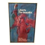 Image of Vintage Peter Max Signed Serigraph Framed Poster For Sale