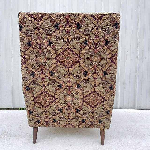 Mid 20th Century Mid-Century Modern Lounge Chair With Ottoman For Sale - Image 5 of 13