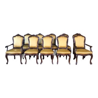 Vintage 1970s Karges Venetian Dining Room Chairs - Set of 10 For Sale