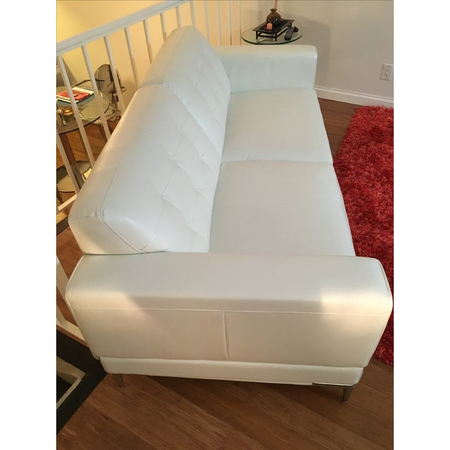 Modani Bristol White Leather Couch - Image 3 of 5