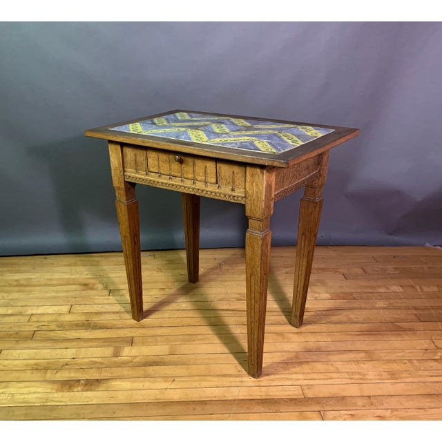 Early 20th Century Louis XVI Style Kellinghusen Tile Top Table For Sale - Image 11 of 11