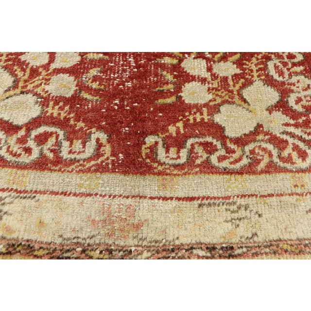Vintage Turkish Oushak Runner - 03'03 X 11'05 For Sale - Image 4 of 10
