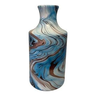 Blue Swirl Jug Vase For Sale
