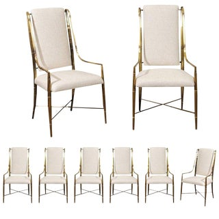 Magnificent Set of Ten Dining Chairs by Weiman/Warren Lloyd for Mastercraft For Sale