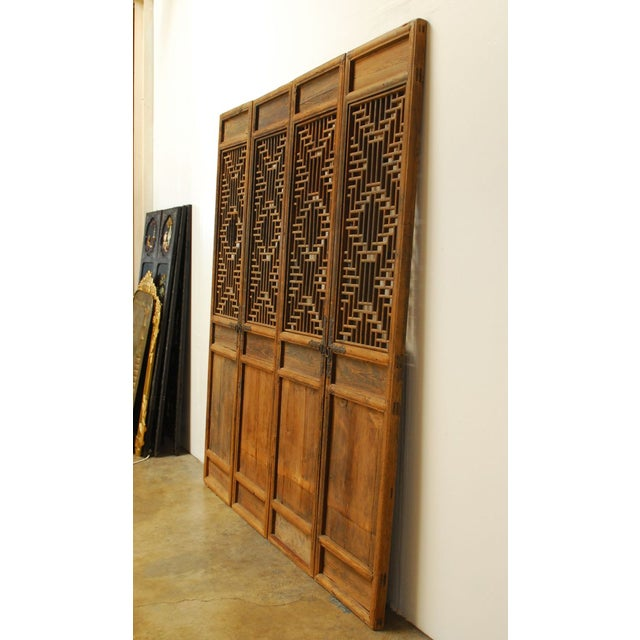 Chinese Lattice Panel Doors - Set of 4 For Sale - Image 4 of 10
