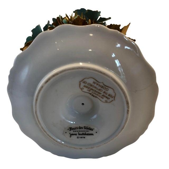 Hollywood Regency Fleurs Des Siecles in Porcelain Cachepot For Sale - Image 3 of 5