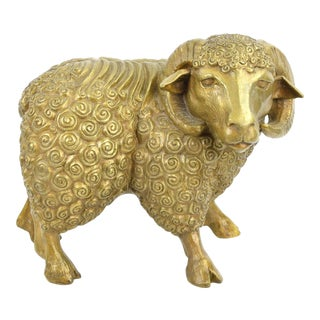 DaNisha Dan Ferguson Bronze Ram Sculpture Limited Edition of 25 For Sale