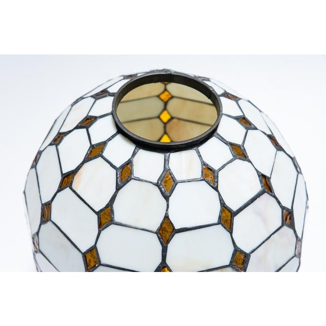 Leaded Stained Glass Globes - a Pair - Image 5 of 7