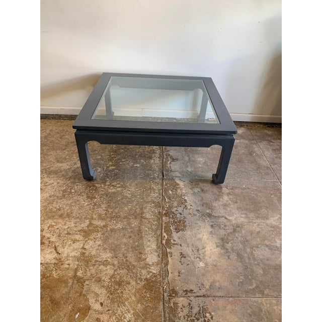 1970s Asian Style Cocktail Table with Glass For Sale - Image 10 of 10