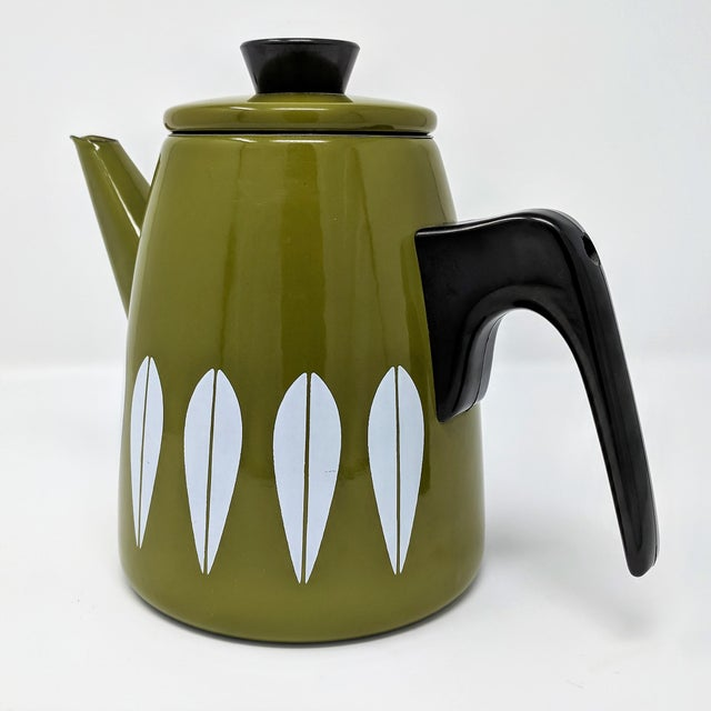 Cathrineholm Cathrineholm Mid-Century Enamel Lotus Coffee Pot, Made in Norway For Sale - Image 4 of 10