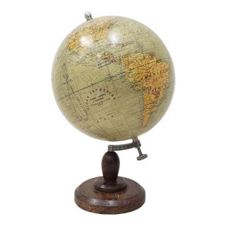 Globe Terrestre by Girard, Barrere & Thomas, Paris, France C.1920 For Sale