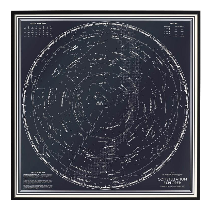Constellation Explorer Northern Hemisphere Star Chart  Chairish