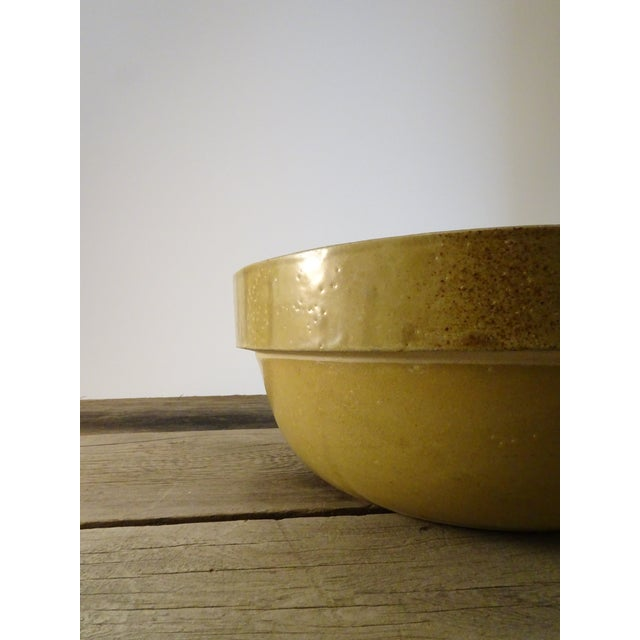 Americana Antique Stoneware Bowl For Sale - Image 3 of 11