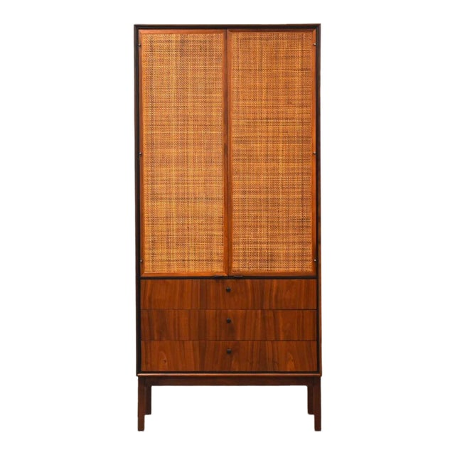 Jack Cartwright for Founders Walnut Armoire Dresser For Sale
