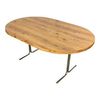 Vintage Retro Daystrom Wood Grain Formica Dining Table For Sale