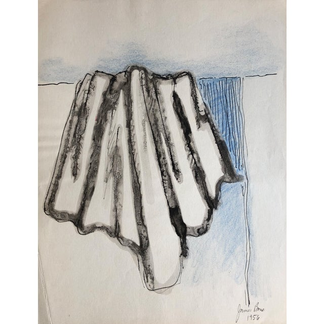 1956 Imagined Drapery Watercolor Study by James Bone For Sale