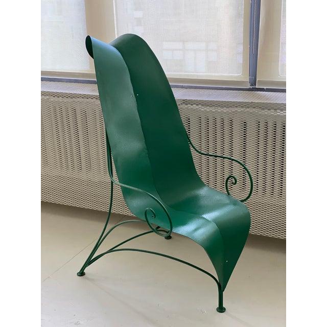 "Metal Poltronova Mirabili ""Foglia"" Metal Chair - Sottsass, Memphis, Mendini For Sale - Image 7 of 7"