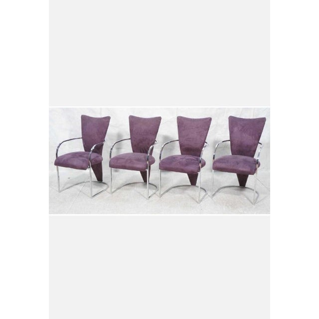 Design Institute America Modern Chrome Dining Chairs - Set of 4 For Sale - Image 10 of 10