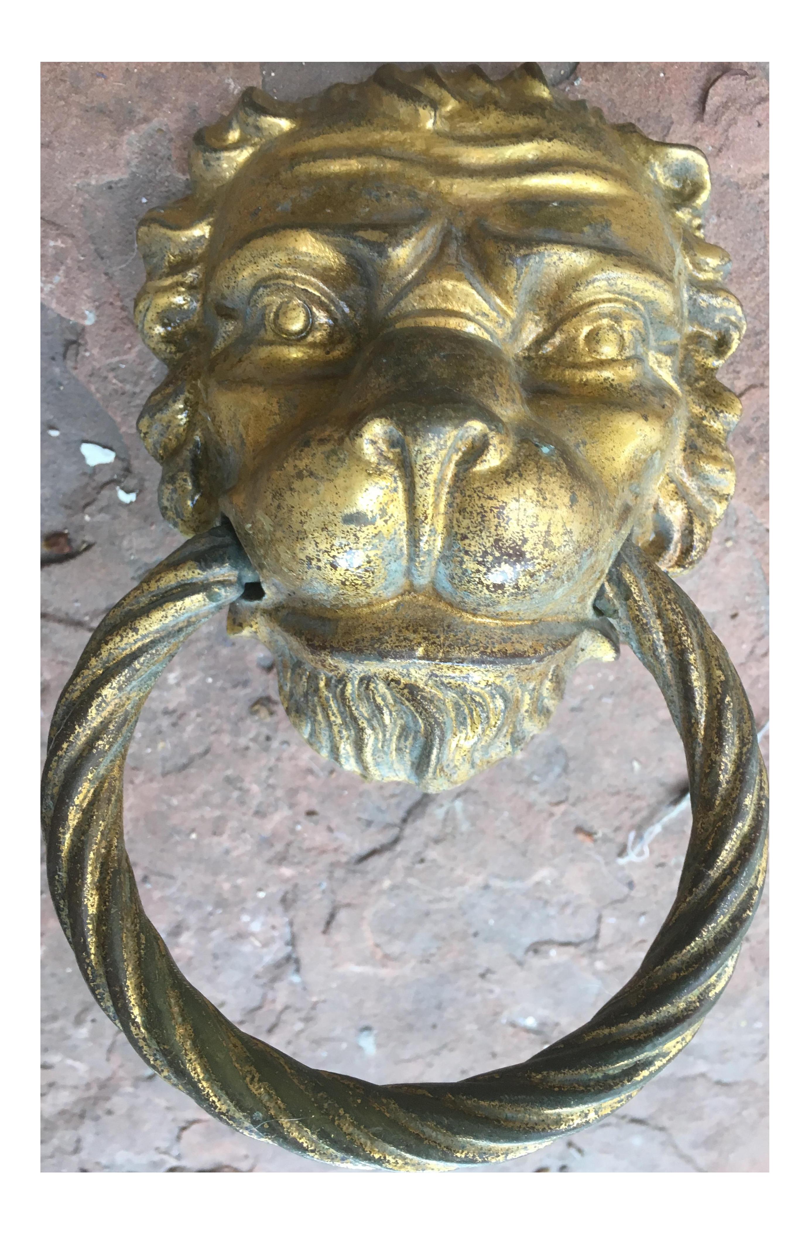 Victorian Lion Head Door Knocker