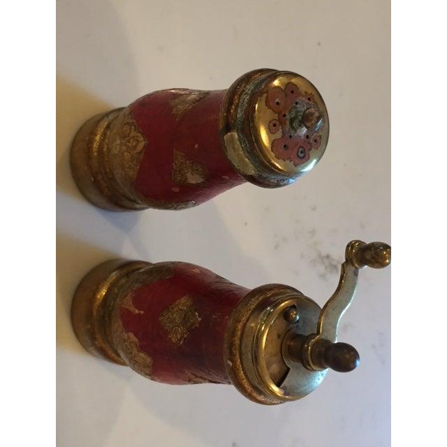 Vintage Acciaio Garant Florentine Salt & Pepper Shakers For Sale In Los Angeles - Image 6 of 7