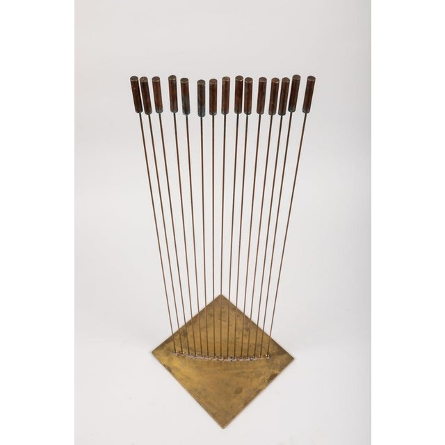 "2010s Large Val Bertoia 15-Rod ""Curve of Sounding Cat Tails"" Sculpture, 2016 For Sale - Image 5 of 13"