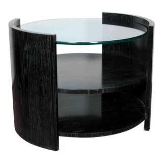 Ebonized Cerused Oak Cocktail/ Side Table by Jay Spectre For Sale
