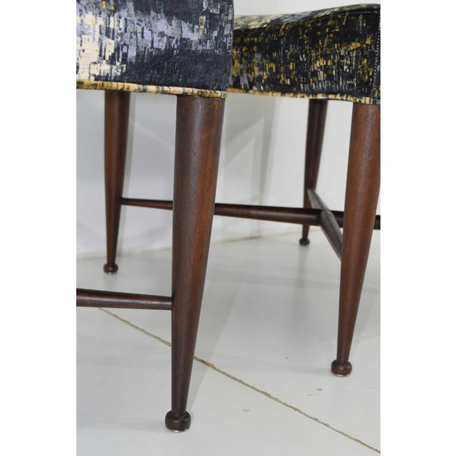 Mahogany Dunbar X-Base Stools by Edward Wormley For Sale - Image 7 of 13