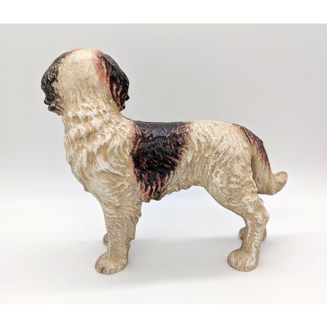 20th Century Figurative Cast Iron Red and White English Springer Spaniel Doorstop For Sale - Image 4 of 9