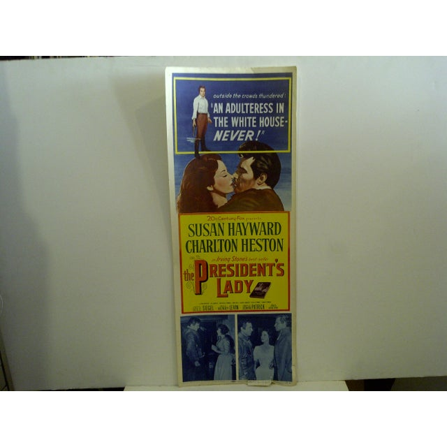 """A Vintage Movie Poster -- Irving Stones Best-Selling Book -- """"The Presidents Lady"""" -- Starring Charlton Heston -- 53/76 --..."""