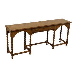 Late 20th Century Vintage Heritage Solid Fruitwood Sofa Table For Sale