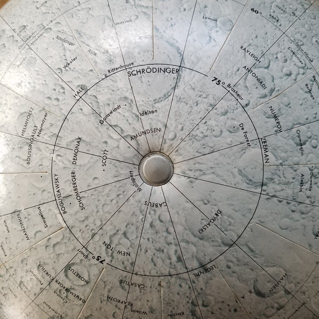 Paper Mid Century Replogle Lunar Moon Globe For Sale - Image 7 of 10