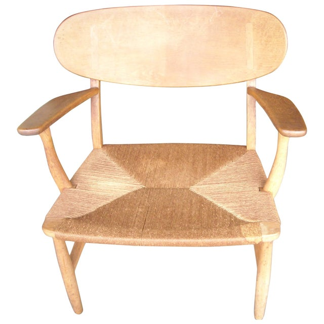 Oak 1950s VintageCarl Hansen for Hans Wegner Ch22 Armchair For Sale - Image 7 of 7
