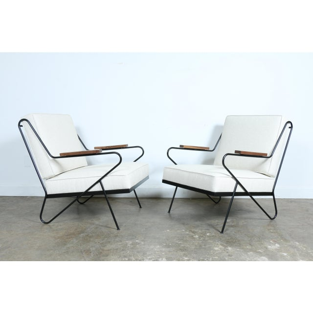 Wrought Iron Modern Chairs - A Pair - Image 2 of 9