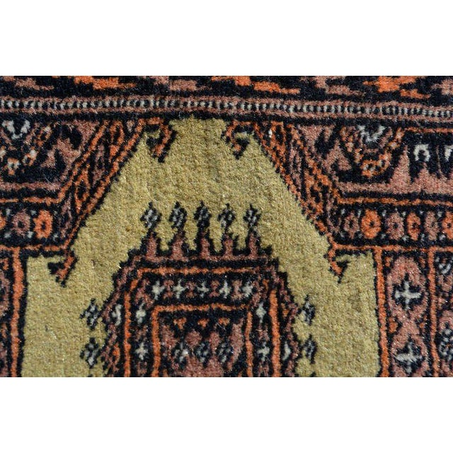 Textile Persian Carpet Runner, Signed, 1940s For Sale - Image 7 of 9