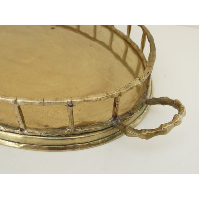 Brass Bamboo Tray For Sale - Image 7 of 7