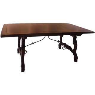Early 20th Century Spanish Colonial Walnut Dining Table For Sale