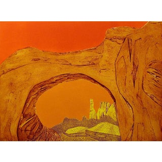 """John Ross """"Ear of the Wind"""" Signed Numbered Vintage Collagraph Etching For Sale"""