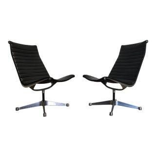 Vintage Knoll Aluminum Group Lounge Chairs, Pair For Sale