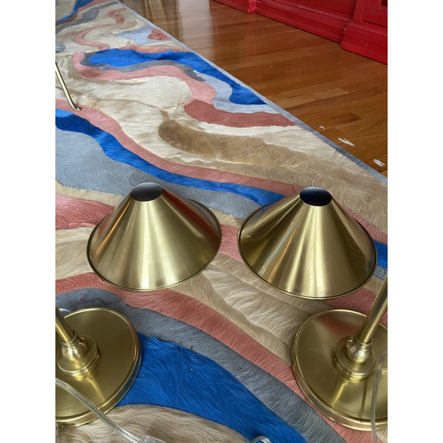 Metal Brass Candlestick Table Lamps - a Pair For Sale - Image 7 of 10