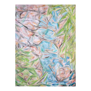 "Large Abstract Oil Painting by Trixie Pitts ""Zebbedee Spring"""