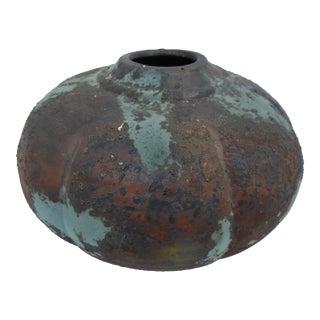 Tony Evans Decorative Art Raku Pottery Vase