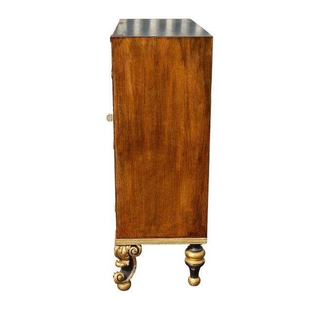White Regency Style Rosewood and Gilded Credenza For Sale - Image 8 of 11