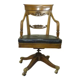 Early 20th Century Swivel Desk Chair For Sale